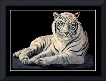 The White Tiger    painting