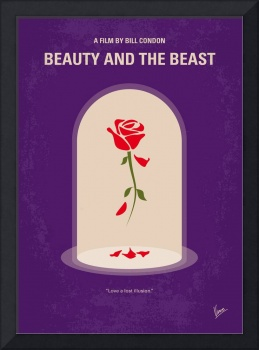 No878 My Beauty and the Beast minimal movie poster