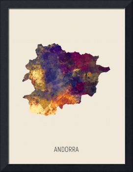 Andorra Watercolor Map