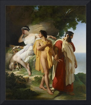 Telemachus and Eucharis, 1824 (oil on canvas)