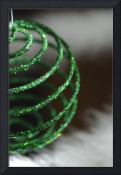 Sparkly Green Ornament