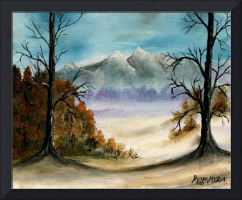 Rocky Mountains landscape oil painting