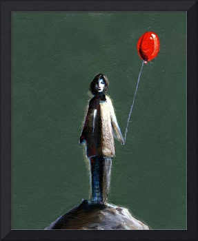 Lady with a bad dispostion despite her red balloon