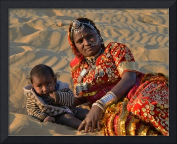 Mother with her baby,Rajasthan,India