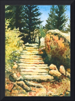 Steps to Blue Lake
