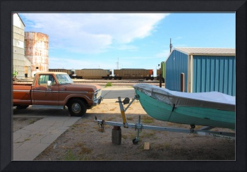 Color Study (Truck, Boat, Train), Alliance, NE