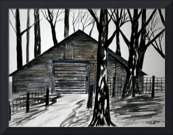 country barn painting folk art print