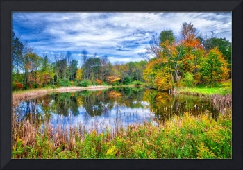 Reflections Of Fall In The Finger Lakes