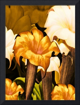 Posters Gold Yellow Floral 2a