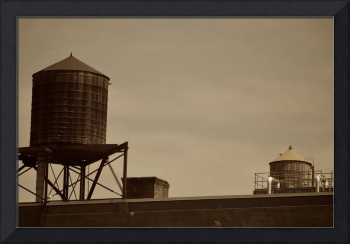 Water towers, New York City, USA
