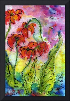 Parrot Pitcher Plant Nature Flower Painting