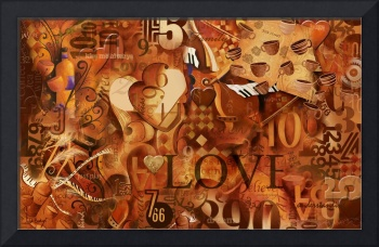 Numbers And Inspirational Words Love Art Print