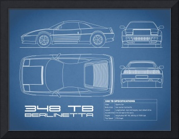Ferrari 348 Blueprint
