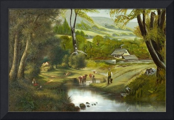 Pastoral Scene With Cows