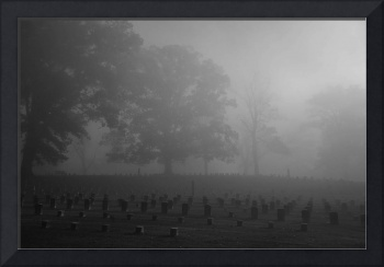 Civil War Cemetary in the Fog