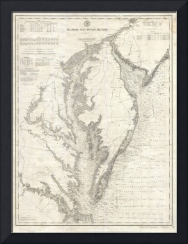 Vintage Map of The Chesapeake Bay (1893)