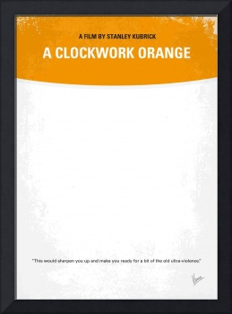 No002 My A Clockwork Orange minimal movie poster