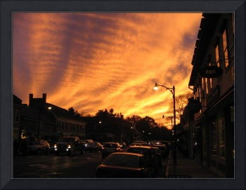Concord Center, MA, Sunset Before the Storm