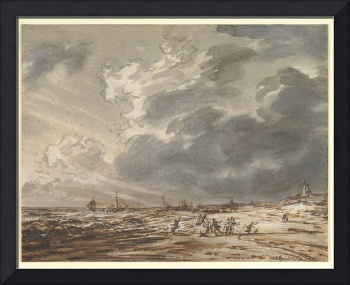 The Beach at Scheveningen, with Strollers by Simon