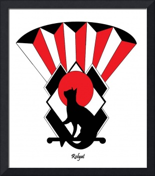 Art Deco Cat in Red 3