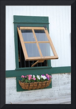Barn Window Flowers