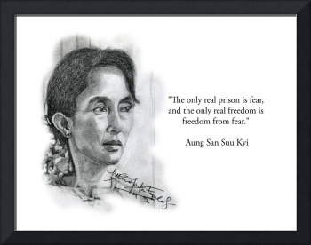 Inspirational Portrait of Aung San Suu Kyi