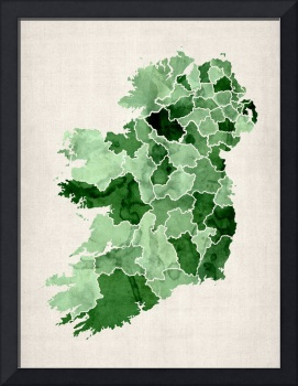 Ireland Watercolor Map