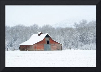 Winter Red Barn