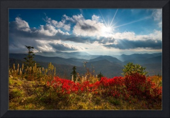 North Carolina Blue Ridge Parkway Scenic Landscape