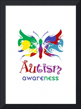 Autism Awareness Butterfly