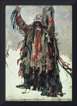 A Shaman, sketch for 'Yermak Conquers Siberia',