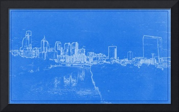 Philadelphia Skyline BluePrint
