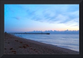 Sunrise Seascape Juno Beach Pier Florida C4