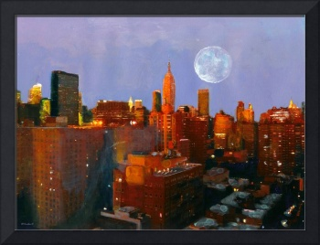 Harvest Moon Glow New York City