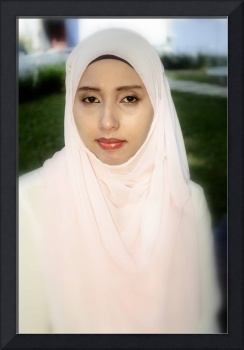 ZAHIRAH IN PINK SCARF
