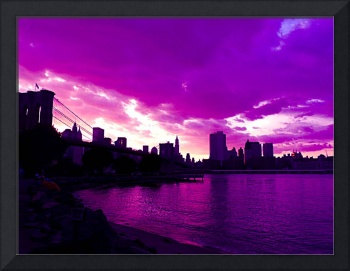 BROOKLYN BRIDGE IN PURPLE