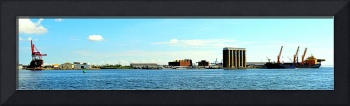 Piers, Ships, and Cranes, Baltimore, Maryland