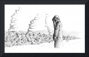 Jeremiah Watching The Destruction Of Jerusalem
