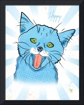 Happy Cat - Pop Art