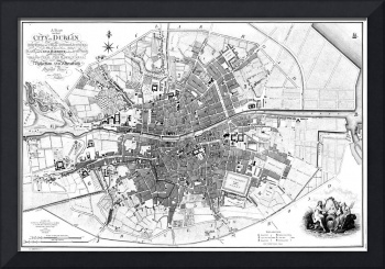 Vintage Map of Dublin Ireland (1797) BW