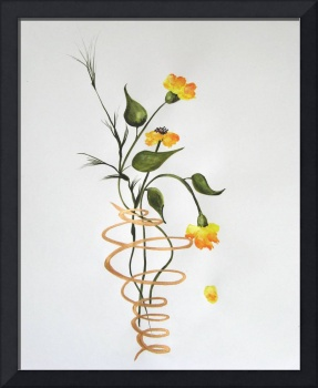 Flowers In A Spiral