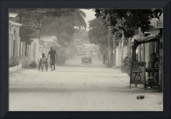 The dusty streets of Brazzaville