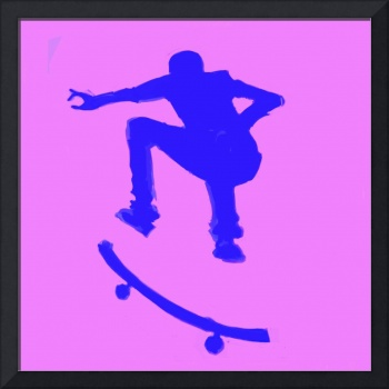 Skateboarder 2 . purple blue violet (c)