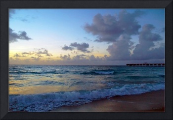 Juno Beach Pier Florida Sunrise Seascape C9