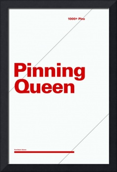 Pinning Queen typographic poster - Gray and Red