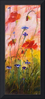 Wildflowers Red and Pink Poppies