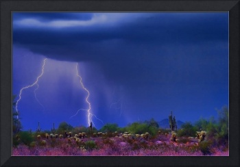 Purple Desert Thunderstorm