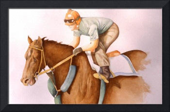 RaceHorse WaterColor