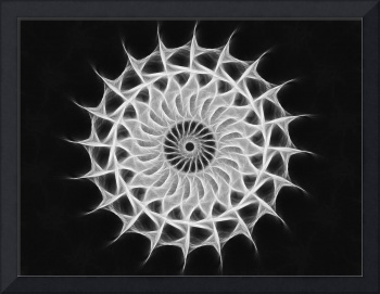 Gray Kaleidoscope Art 30