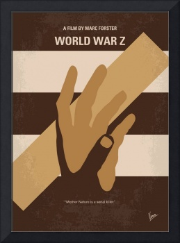 No783 My World war Z minimal movie poster
